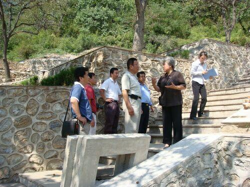 市局领导到园区视察铁军纪念园建设情况3